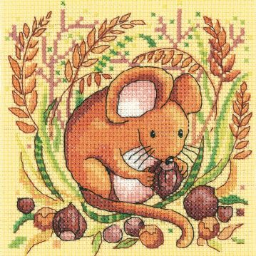 Woodland Creatures Mouse Counted Cross Stitch Kit